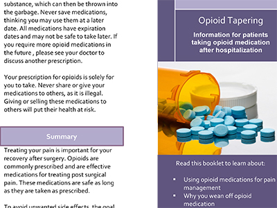 how to know if patients are using pain medication appropriately